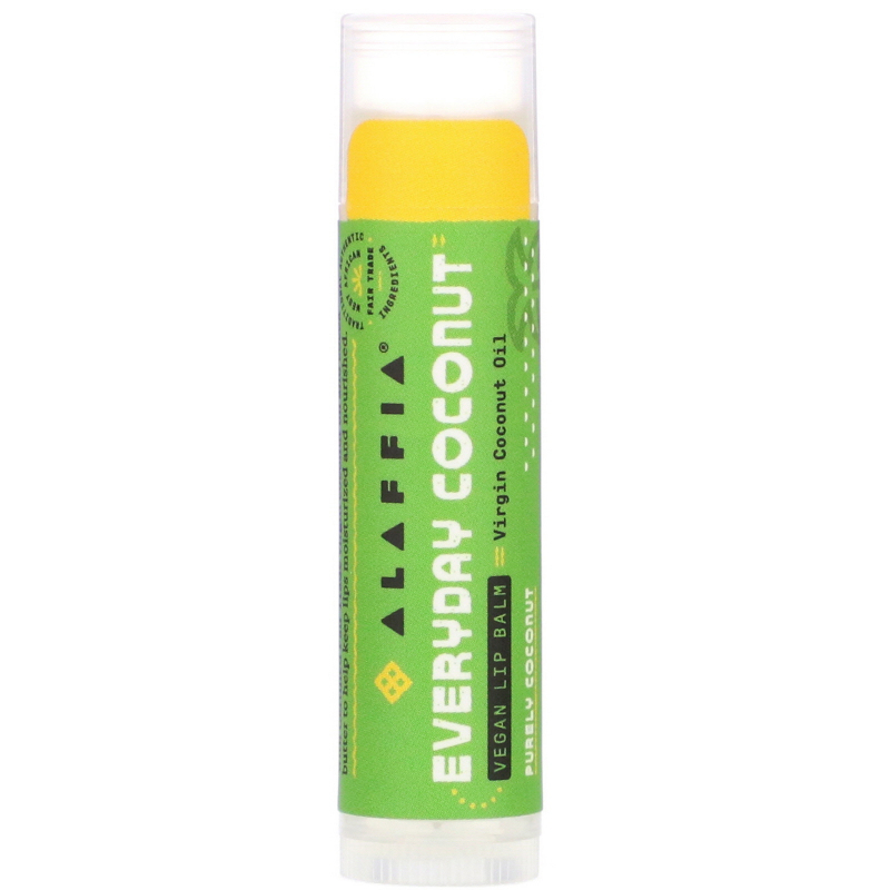Everyday Coconut, Ethically Traded Lip Balm, Purely Coconut, 0.15 oz (4.25 g)