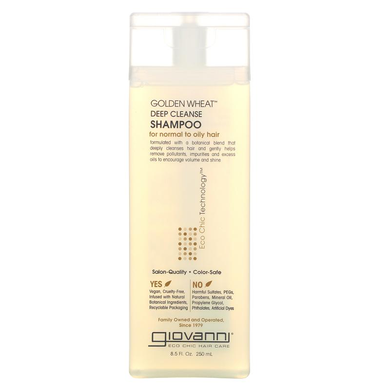 Giovanni, Golden Wheat Deep Cleanse Shampoo, 8.5 fl oz (250 ml)