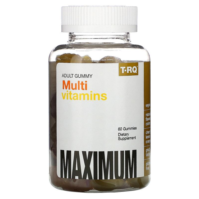 T-RQ, Multi Vitamins, Adult Gummy, Cherry Lemon Orange, 60 Gummies
