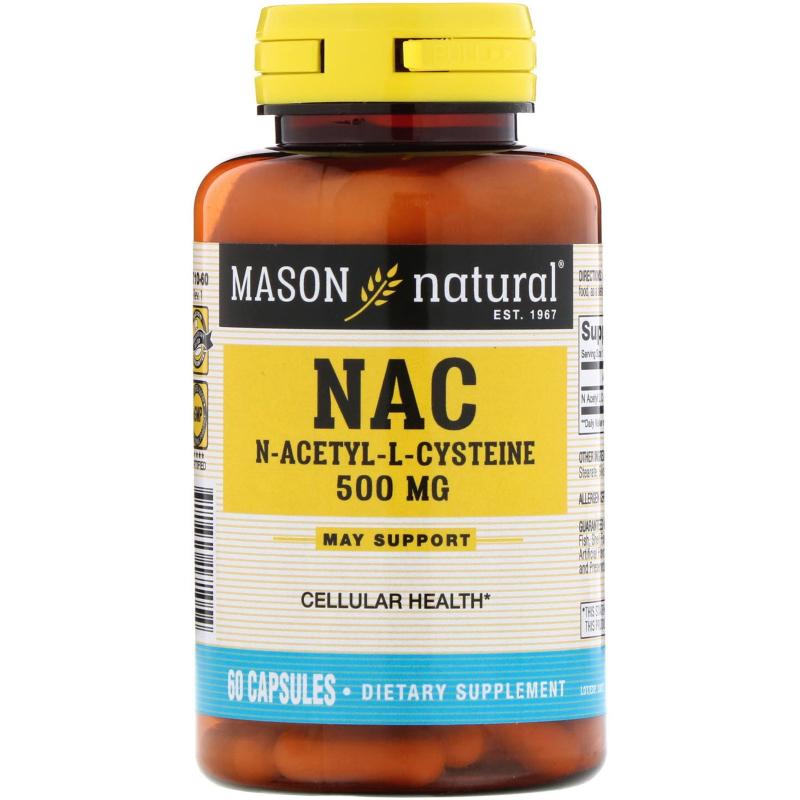 Mason Natural, NAC N-Acethyl-L-Cysteine, 500 mg, 60 Capsules