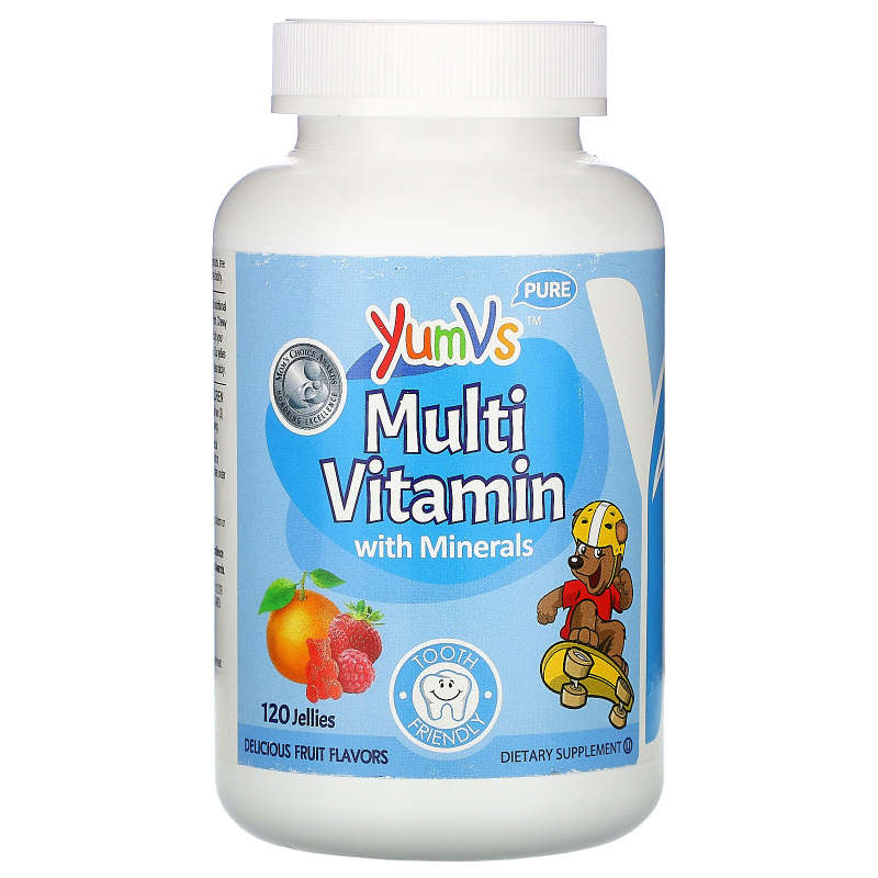 Yum-V's, Multivitamin Formula With Minerals, Delicious Fruit Flavors, 120 Jelly Bears