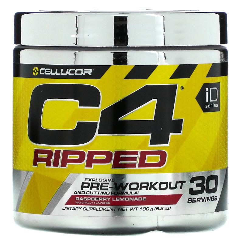 Cellucor, C4 Ripped, Pre-Workout, Raspberry Lemonade, 6.3 oz (180 g)