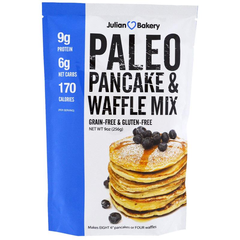 Julian Bakery, Paleo Pancakes and Waffle Mix, 9 oz (256 g)