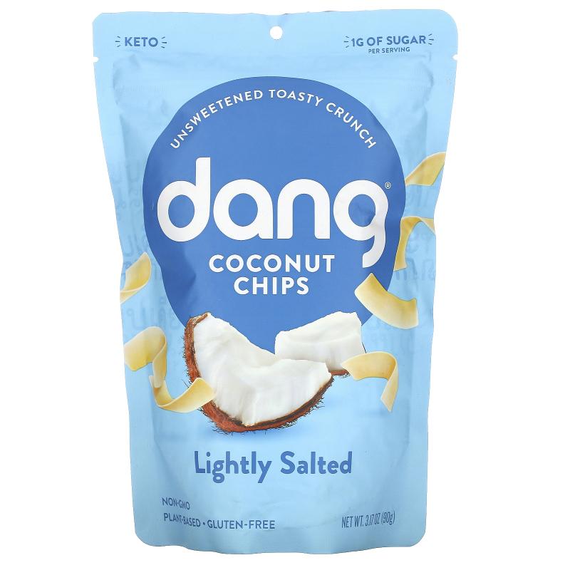 Dang Foods LLC, Toasted Coconut Chips, Lightly Salted, 3.17 oz (90 g)