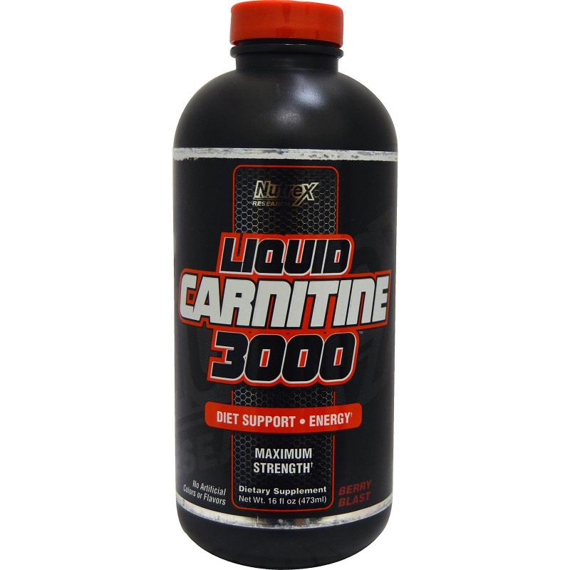 Nutrex Research, Liquid Carnitine 3000, Berry Blast, 16 fl oz (473 ml)