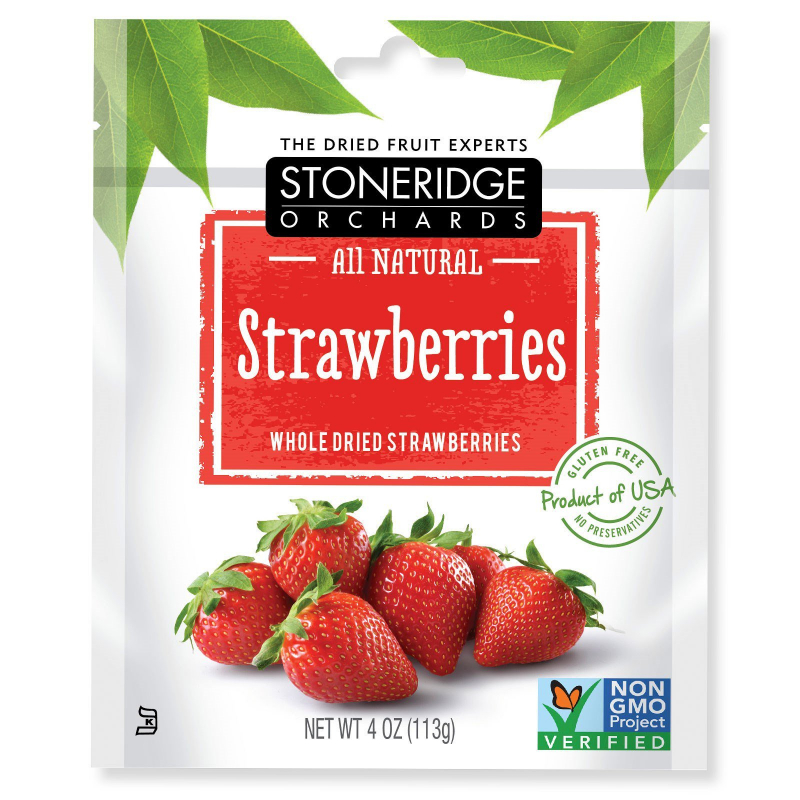 Stoneridge Orchards, Strawberries, Whole Dried Strawberries, 4 oz (113 g)
