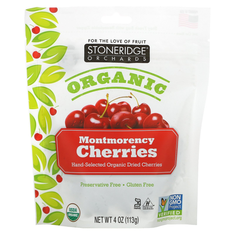 Stoneridge Orchards, Organic Montmorency Cherries, 4 oz (113 g)