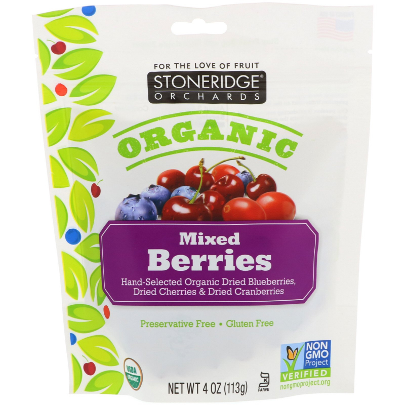 Stoneridge Orchards, Organic, Mixed Berries, 4 oz (113 g)