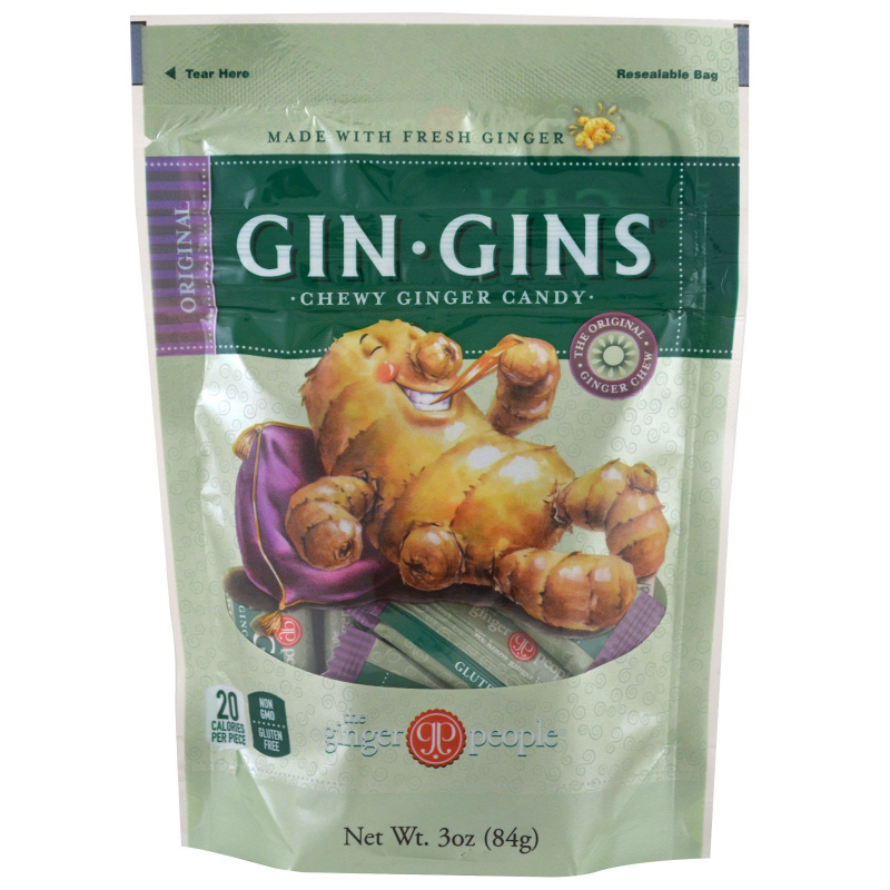 The Ginger People, Gin·Gins, Chewy Ginger Candy, Original, 3 oz (84 g)