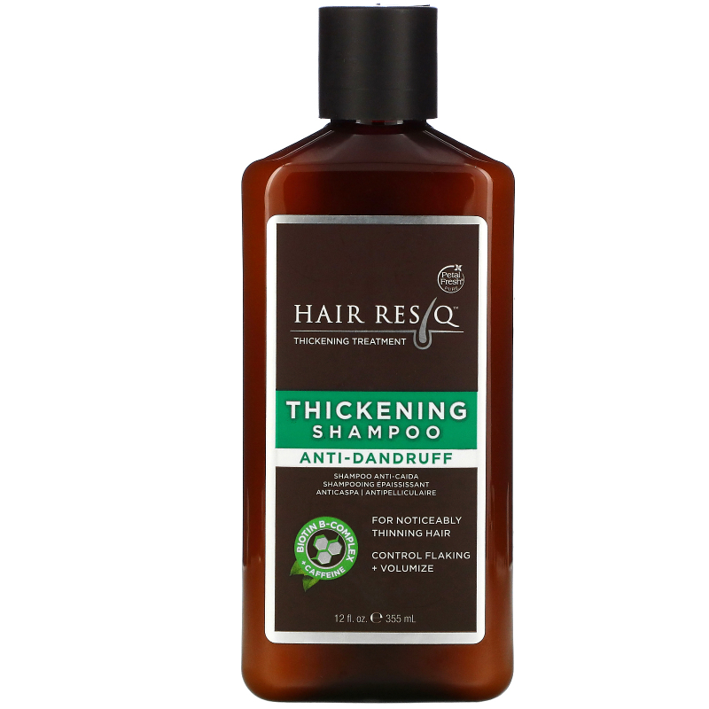 Petal Fresh, Pure, Hair Rescue Thickening Treatment Shampoo, Anti Dandruff, 12 fl oz (355 ml)