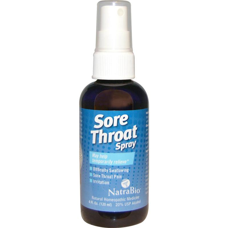 NatraBio, Sore Throat Spray, Temporarily Relieve, 4 fl oz (120 ml)