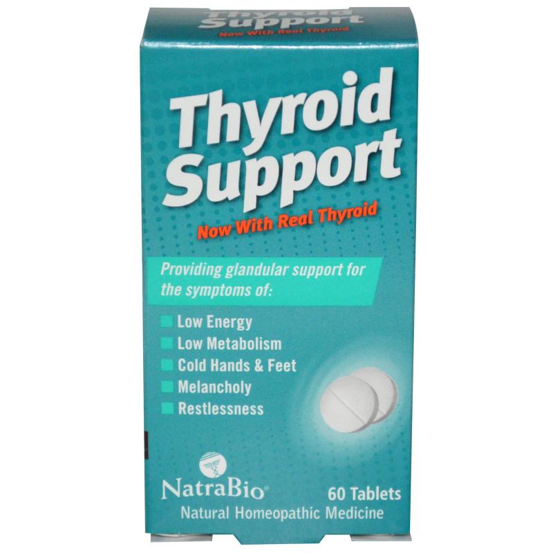NatraBio, Thyroid Support, 60 Tablets