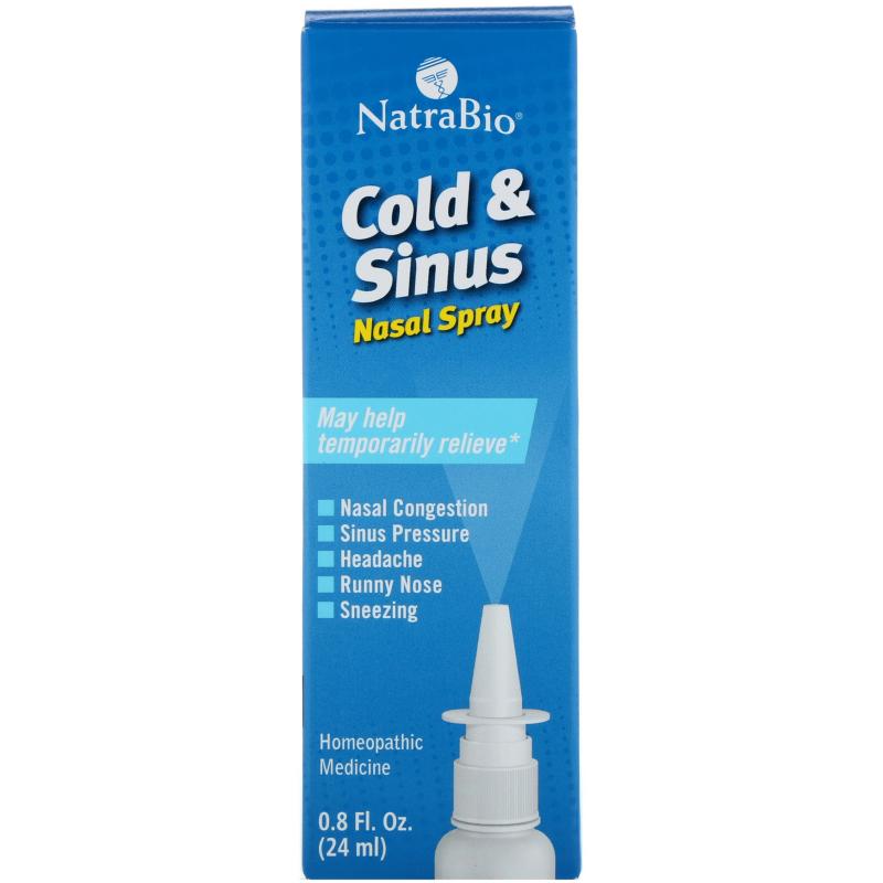 NatraBio, Cold & Sinus, Nasal Spray, 0.8 fl oz (24 ml)