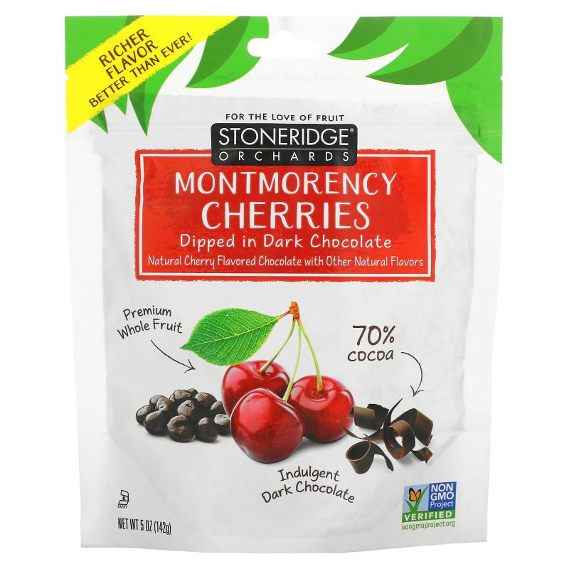 Stoneridge Orchards, Montmorency Cherries, Dipped in Dark Chocolate, 5 oz (142 g)