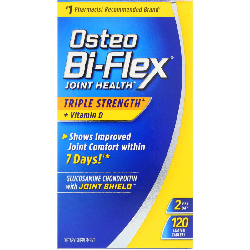 Osteo Bi-Flex, Joint Health, Triple Strength + Vitamin D, 120 Coated Tablets