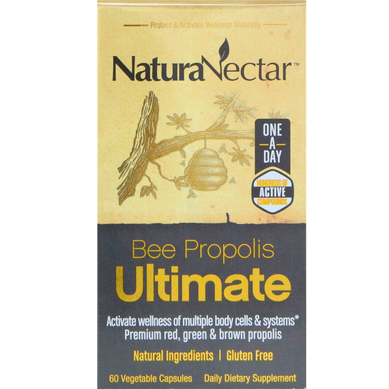 NaturaNectar, Bee Propolis Ultimate, 60 Vegetable Capsules