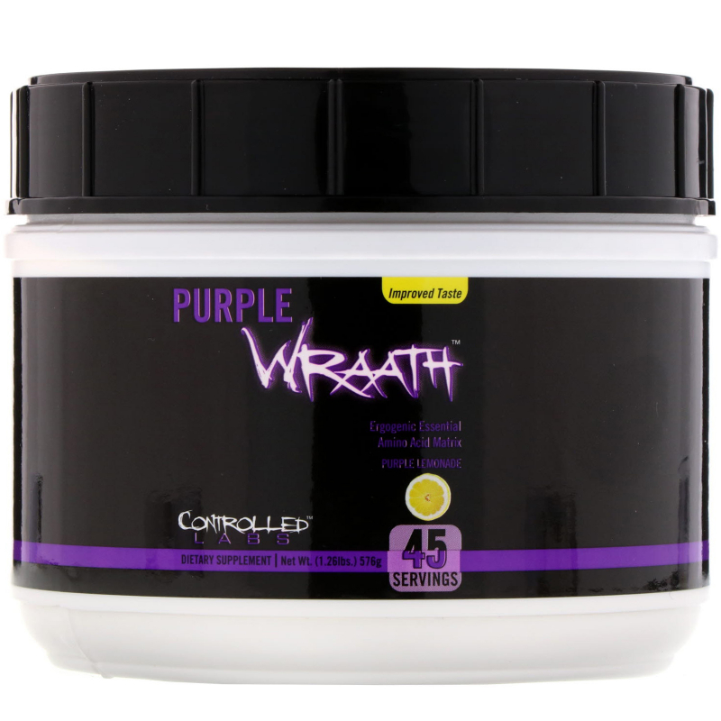 Controlled Labs, Purple Wraath, Purple Lemonade, 1.26 lbs (576 g)