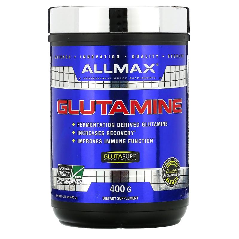 ALLMAX Nutrition, 100% Pure Micronized Glutamine, Gluten-Free + Vegan + Kosher Certified, 14.1 oz (400 g)
