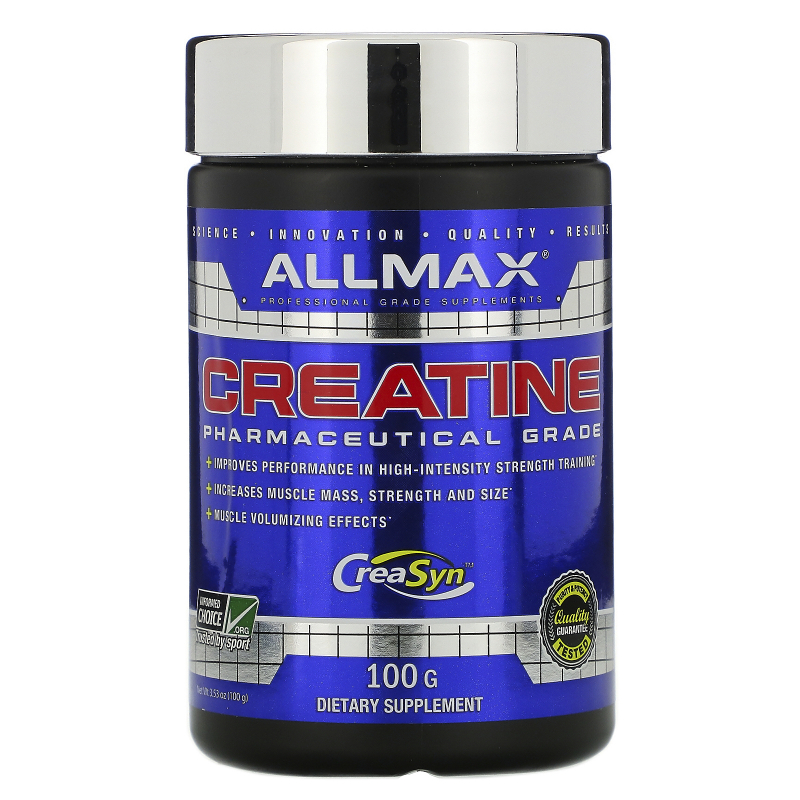 ALLMAX Nutrition, Creatine Powder, 100% Pure Micronized Creatine Monohydrate, Pharmaceutical Grade Creatine, 3.5 oz (100 g)