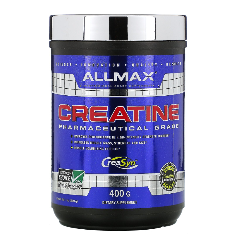 ALLMAX Nutrition, Creatine Powder, 100% Pure Micronized Creatine Monohydrate, Pharmaceutical Grade Creatine, 14.11 oz (400 g)