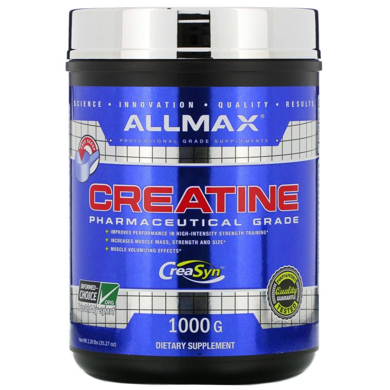 ALLMAX Nutrition, Creatine Powder, 100% Pure Micronized Creatine Monohydrate, Pharmaceutical Grade Creatine, 35.27 oz (1000 g)