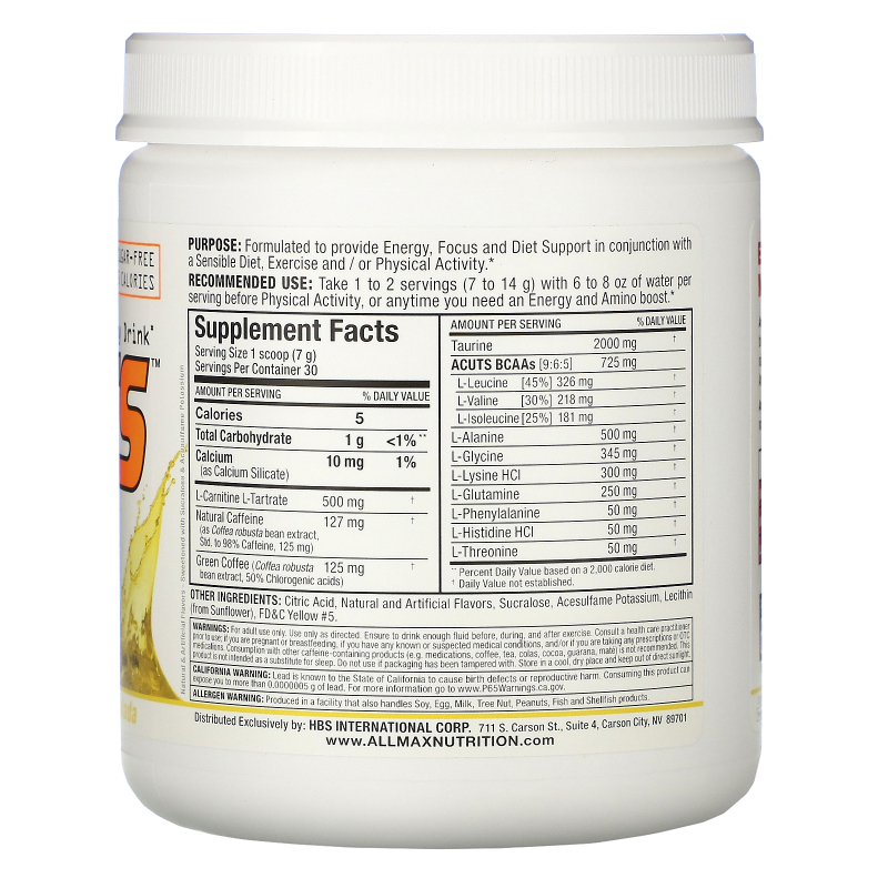 ALLMAX Nutrition, AMINOCUTS (ACUTS), Weight-Loss BCAA (CLA + Taurine + Green Coffee), Pina Colada, 7.4 oz (210 g)