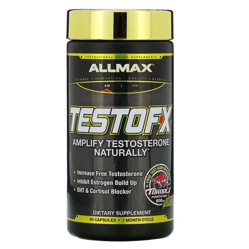 ALLMAX Nutrition, TestoFX, 5-Stage Male Testosterone Support, 90 Capsules