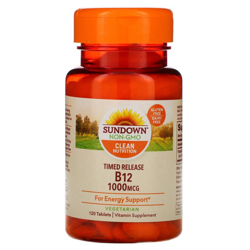 Sundown Naturals, Vitamin B12, 1000 mcg, 120 Timed Release Tablets
