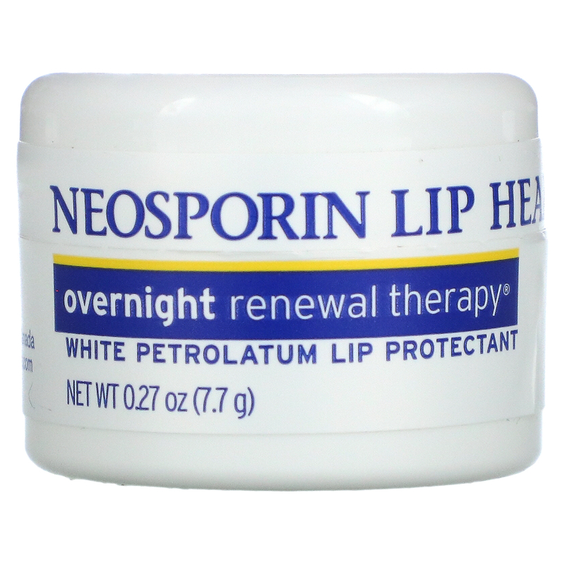 Neosporin, Overnight Renewal Therapy, White Petrolatum Lip Protectant, 0.27 oz (7.7 g)