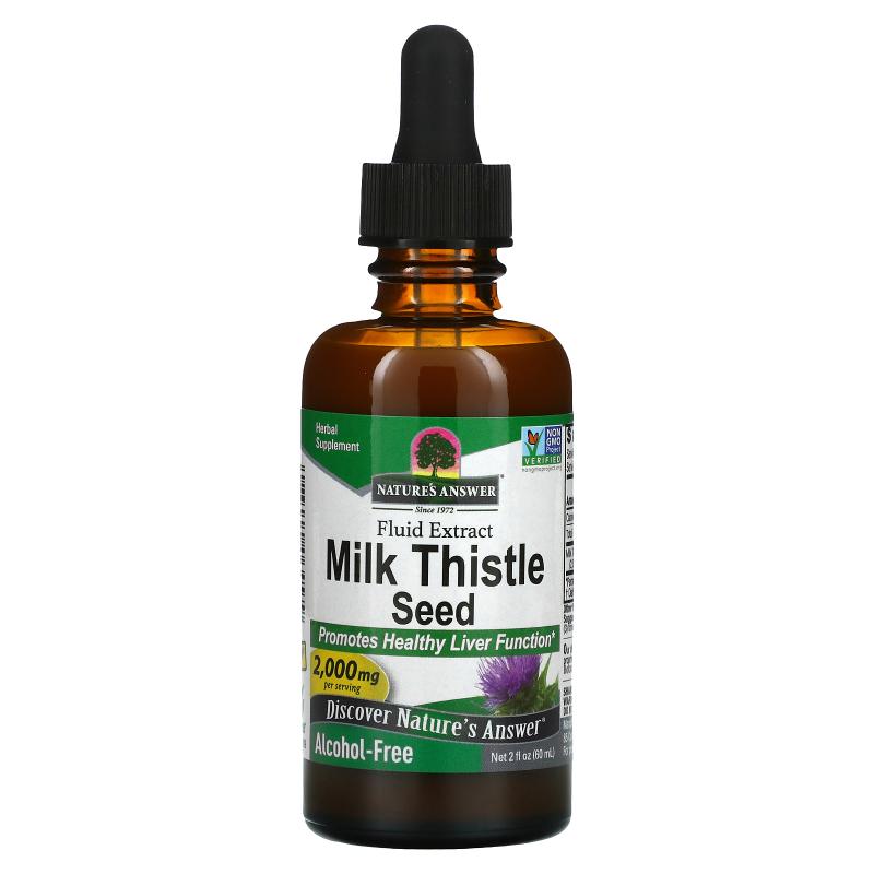 Nature's Answer, Milk Thistle, Alcohol Free, 2,000 mg, 2 fl oz (60 ml)