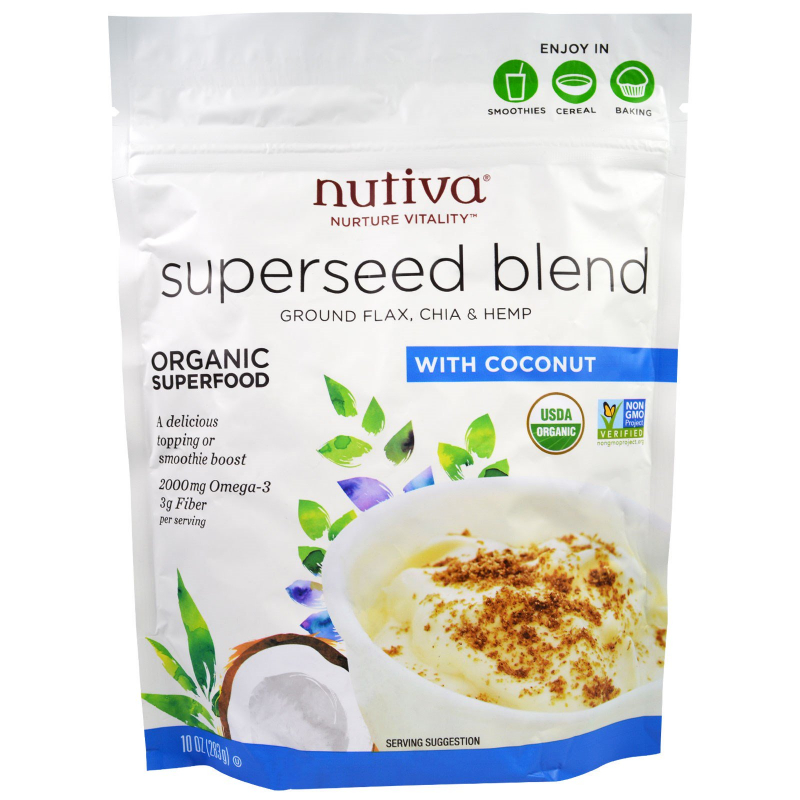 Nutiva, Organic Superseed Blend, With Coconut, 10 oz (283 g)
