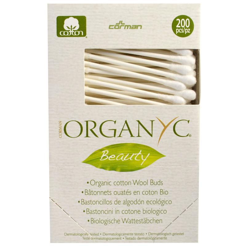 Organyc, Beauty, Organic Cotton Wool Buds, 200 Pieces