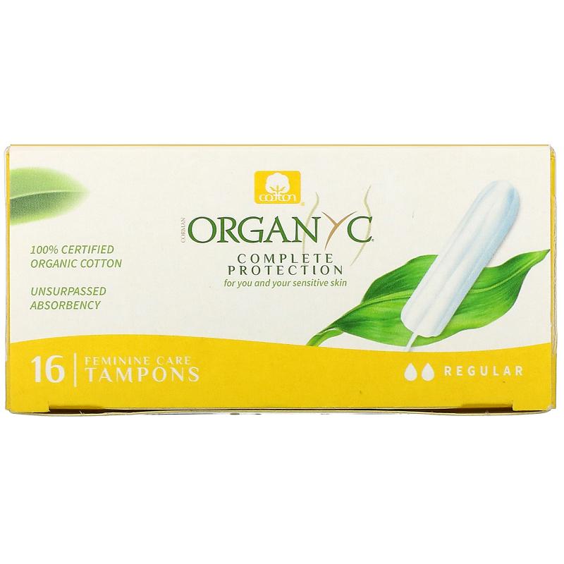 Organyc, Organic Tampons, 16 Regular Absorbency Tampons