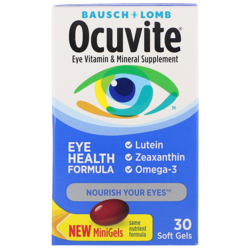 Bausch & Lomb, Ocuvite, Eye Health Formula, 30 Soft Gels