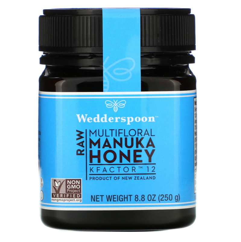 Wedderspoon, 100% Raw Manuka Honey, KFactor 12, 8.8 oz (250 g)
