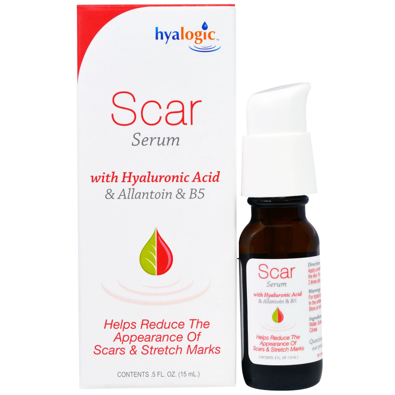 Hyalogic LLC, Scar Serum with Hyaluronic Acid & Allantoin & B5 , 5 fl oz (15 ml)