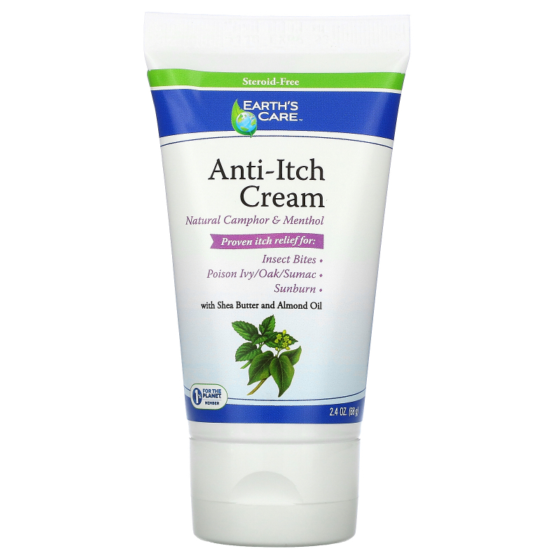 Earth's Care, Anti-Itch Cream, with Shea Butter and Almond Oil, 2.4 oz (68 g)