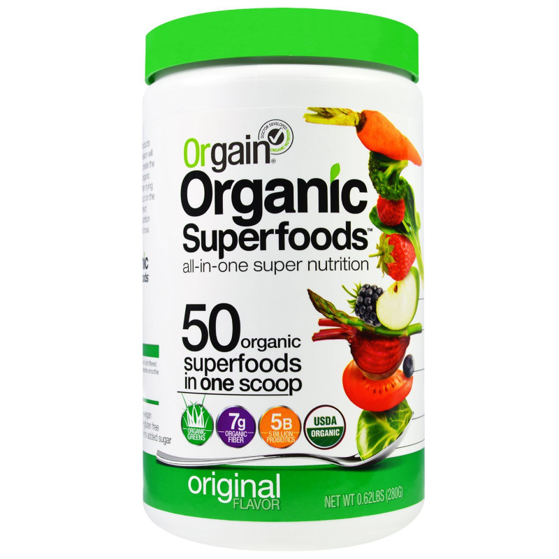 Orgain, Organic Superfoods, All-In-One Super Nutrition, Original Flavor, 0.62 lbs (280 g)