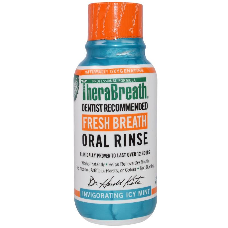 TheraBreath, Fresh Breath Oral Rinse, Invigorating Icy Mint Flavor, 3 fl oz (88.7 ml)