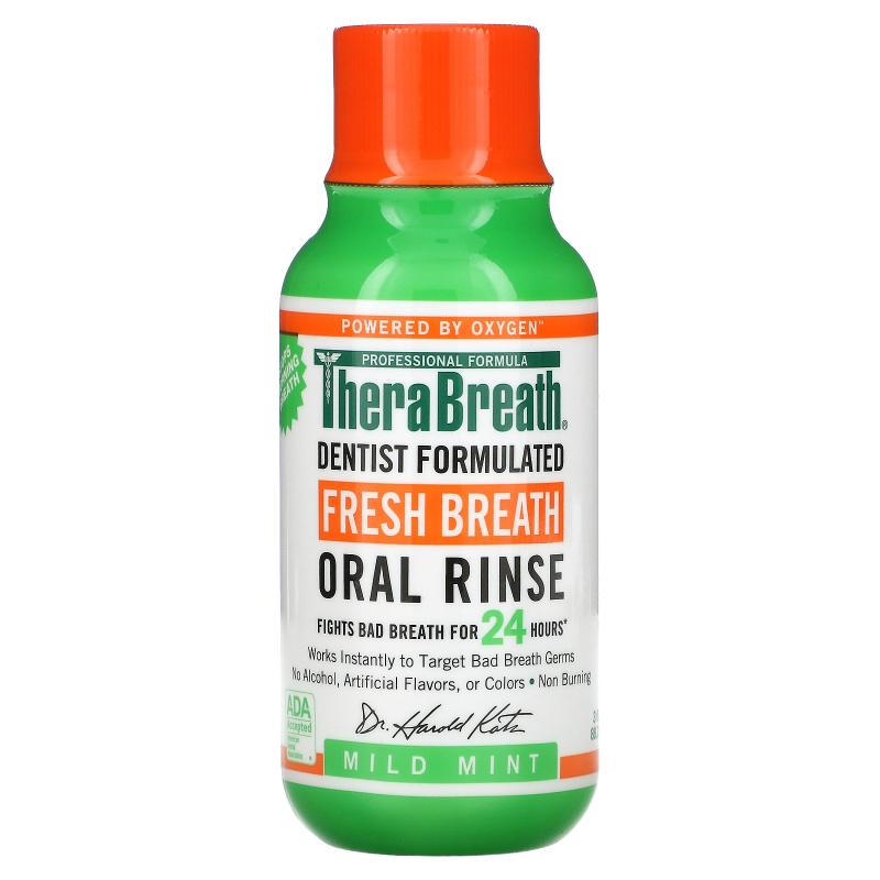 TheraBreath, Fresh Breath Oral Rinse, Mild Mint Flavor , 3 fl oz (88.7 ml)
