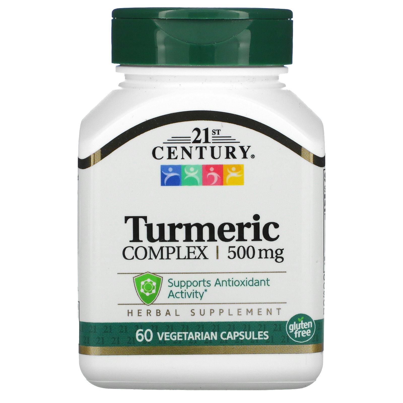 21st Century, Turmeric Complex, 500 mg, 60 Vegetarian Capsules