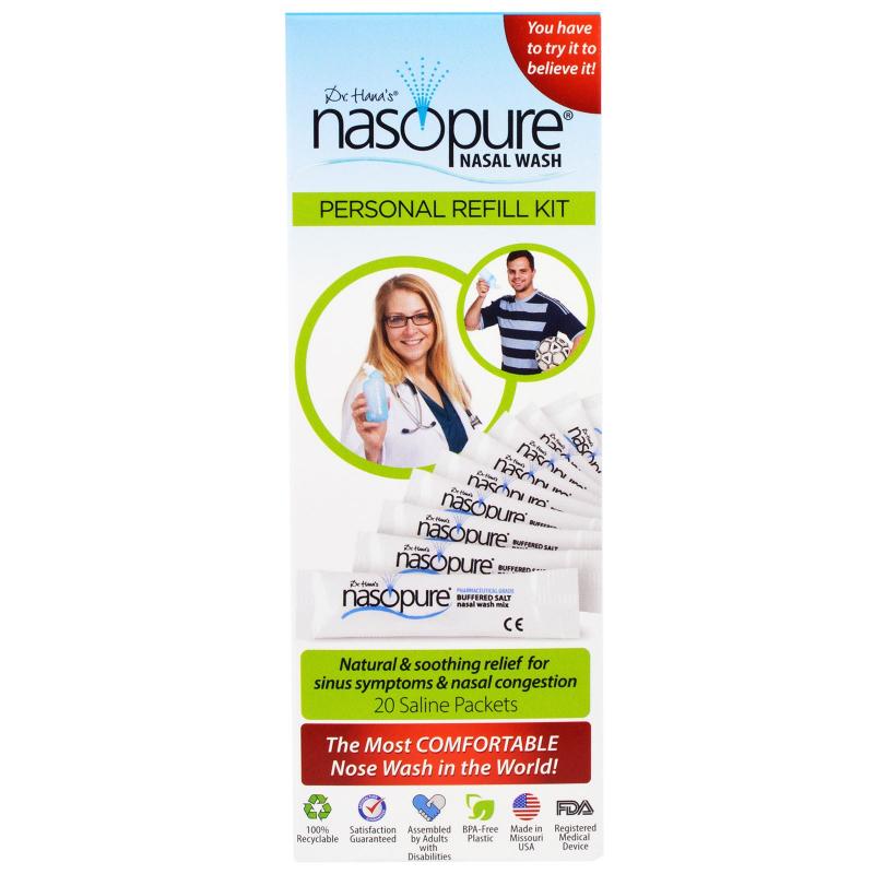 Nasopure, Nasal Wash, Personal Refill Kit, 20 Saline Packets