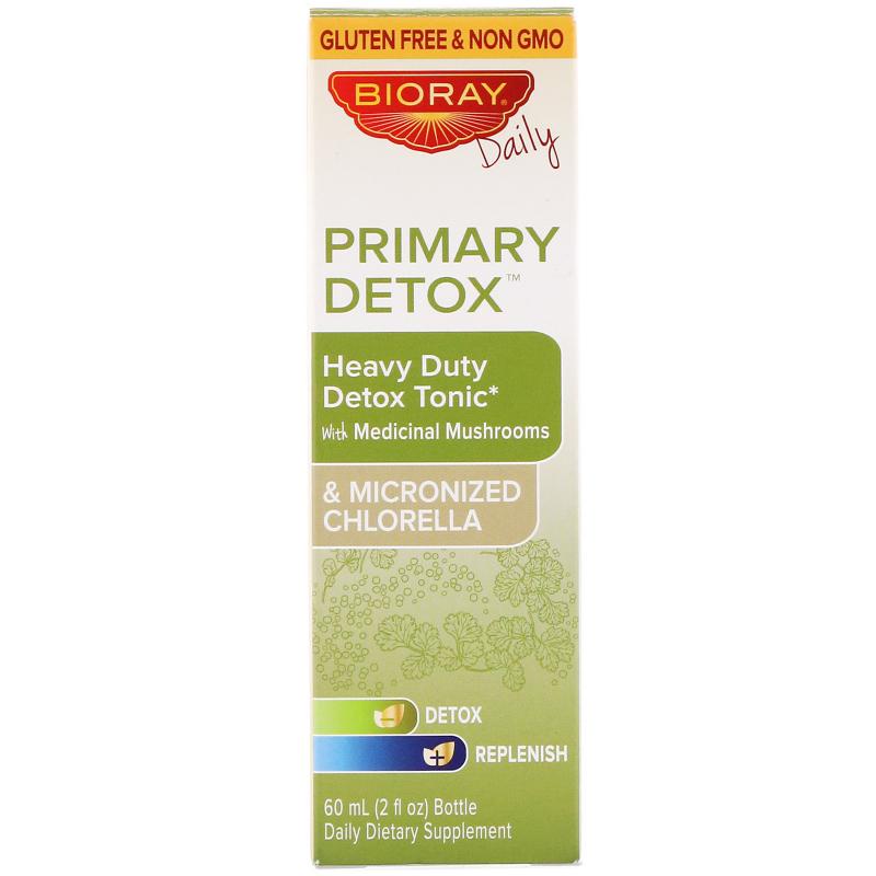 Bioray Inc., Primary Detox, Heavy Duty Detox Tonic, Alcohol Free, 2 fl oz (60 ml)