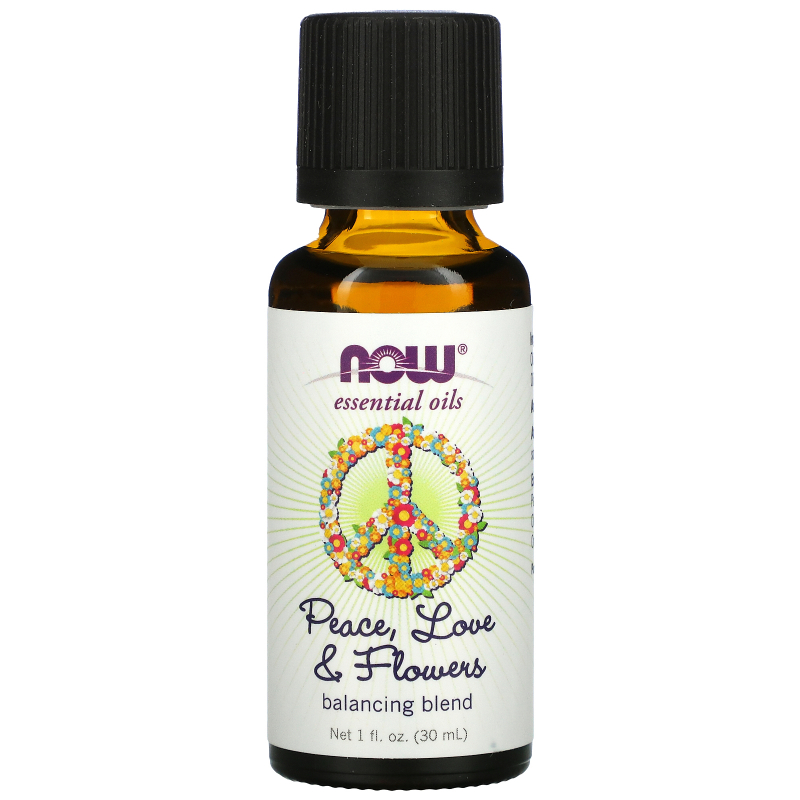 Now Foods, Essential Oils, Peace, Love & Flowers, Balancing Blend, 1 fl. oz (30 ml)