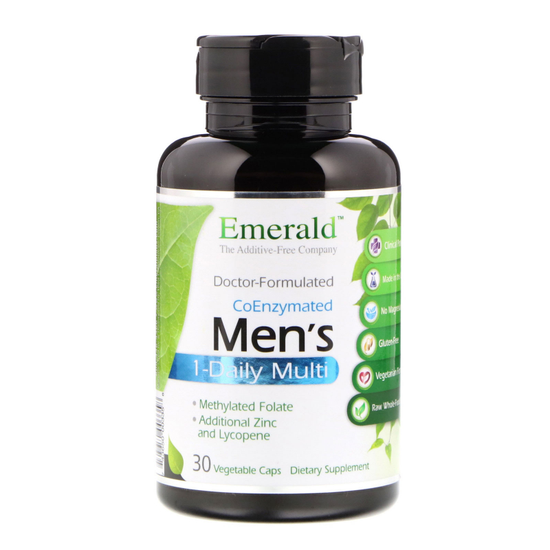 Emerald Laboratories, CoEnzymated Men's 1-Daily Multi, 30 Vegetable Caps