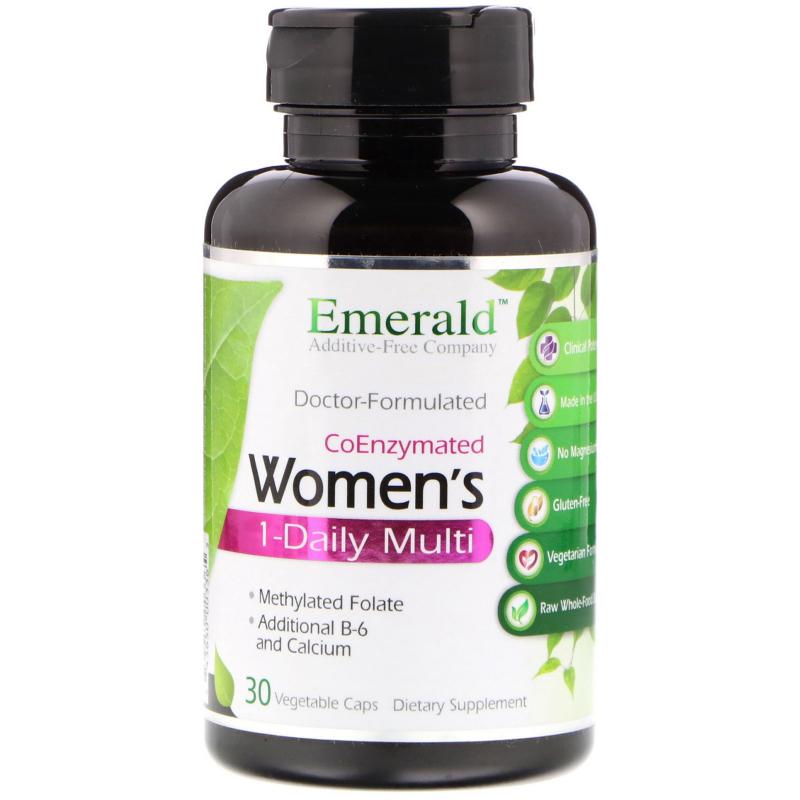 Emerald Laboratories, CoEnzymated Women's 1-Daily Multi, 30 Vegetable Caps