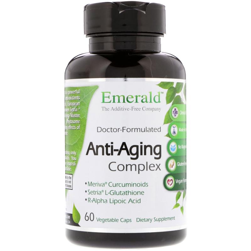Emerald Laboratories, Anti-Aging Complex, 60 Vegetable Caps