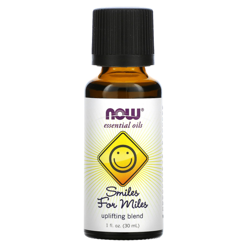 Now Foods, Essential Oils, Smiles for Miles, Uplifting Blend, 1 fl oz (30 ml)