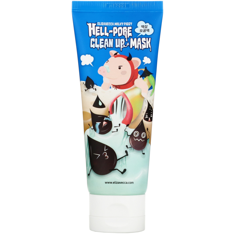Elizavecca, Hell-Pore Clean Up Mask, 3.38 fl oz (100 ml)