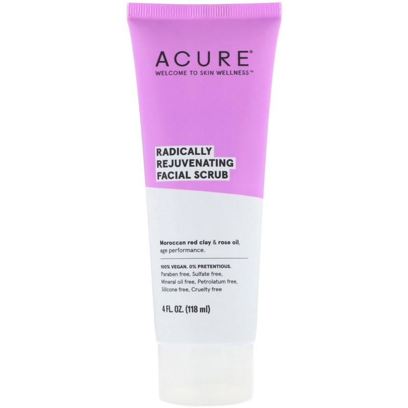 Acure, Radically Rejuvenating, Facial Scrub, 4 fl oz (118 ml)